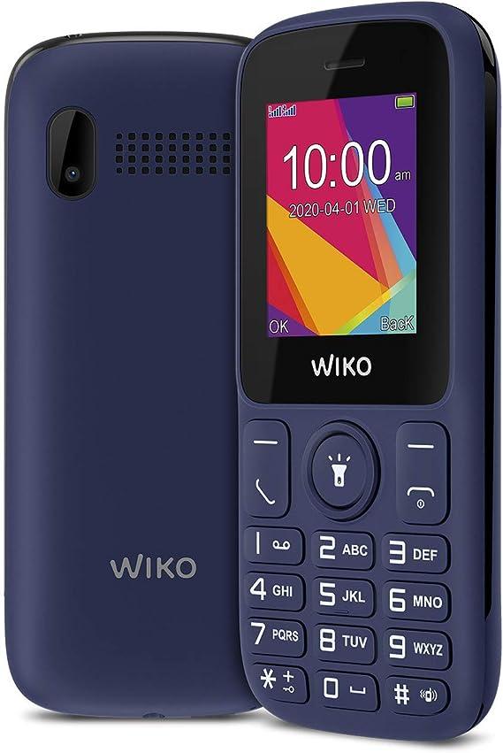 """Wiko F100 – Teléfono móvil Libre con Teclas de 1,8"""" (Dual SIM, batería de 800mAh para una Gran autonomía, Radio FM, Reproductor MP3, admite microSD, ..."""