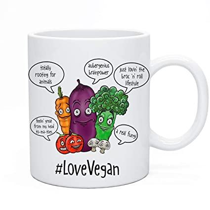 Amazon Vegan Tea Coffee Mug Gift Christmas Xmas