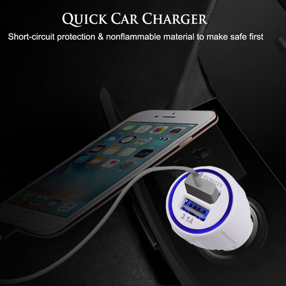 Car Charger USB Cable for Fire Tablets Kindle eReaders Kindle Paperwhite Voyage Oasis Fire HD 8 HD 10