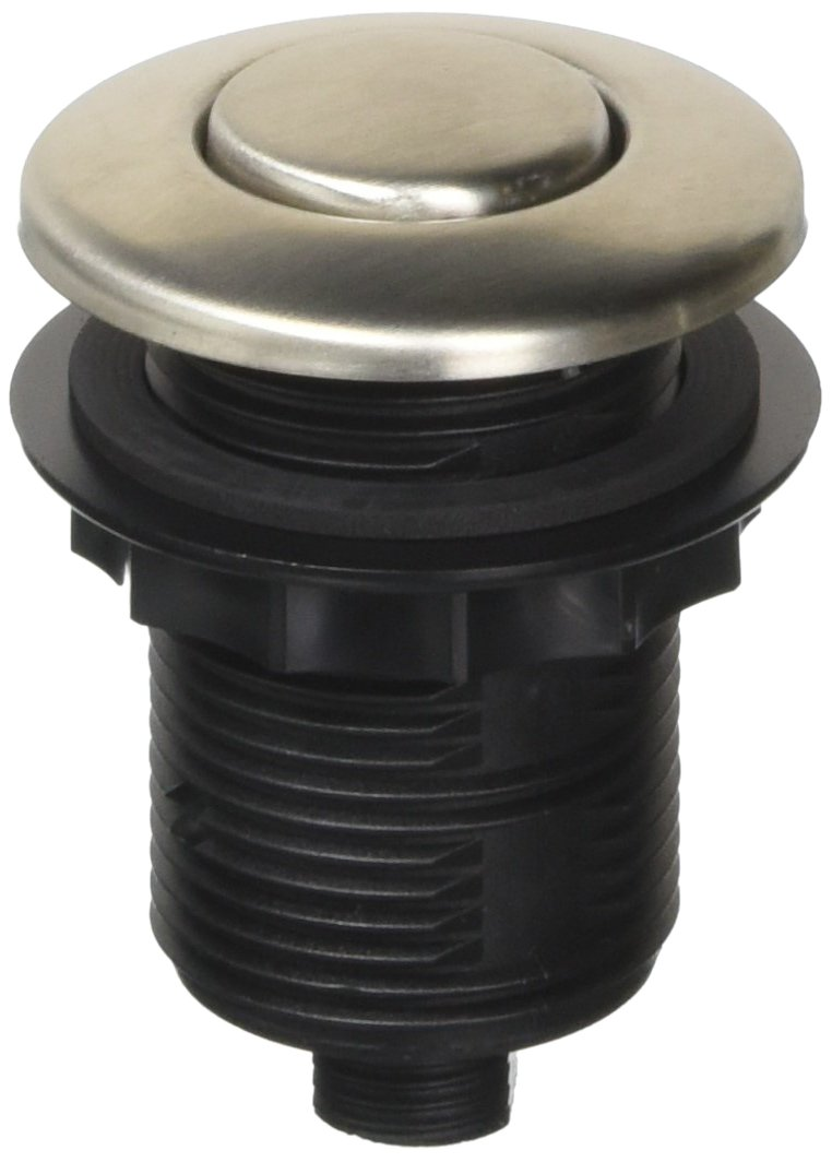 Franke WD3428SN Round Waste Disposer/Disposal Air Switch, Satin Nickel