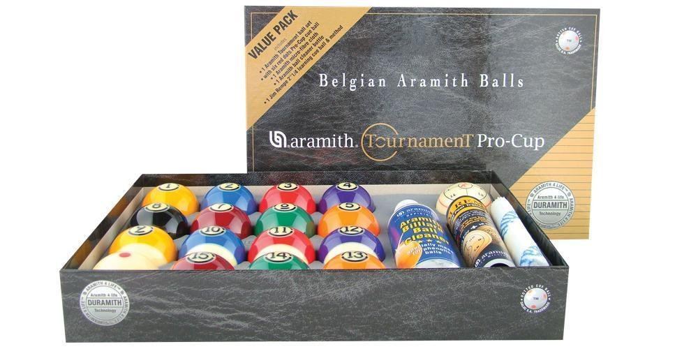NEW Aramith Tournament Pro-Cup Value Pack Pool Ball Set - Duramith