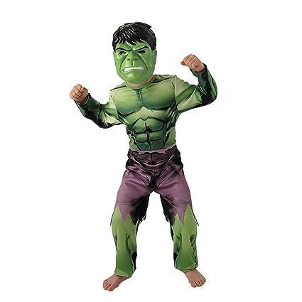 Rubies IT888911-L Traje de fantasía para niños - Trajes de fantasía para niños (Disfraz, Superhéroe, Hulk, Niño, Negro, Marrón, Verde, Imagen)