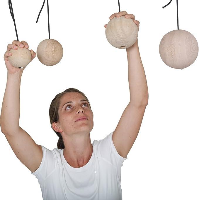pedalo Bolas de escalada de madera, para deportes de escalada, para bolas, entrenamiento de escalada, mango de bola