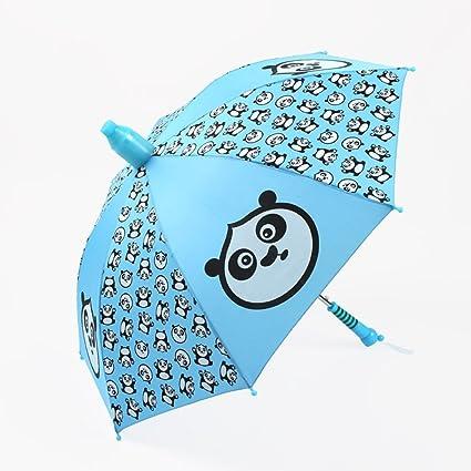 Paraguas plegable Sombrilla Niños Kung Fu Panda Mango Largo Dibujos Animados Soleado Para Niños (Color