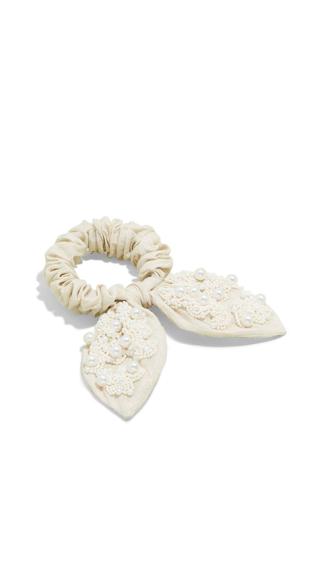 Deepa Gurnani Women's Blaire Bow Scrunchie, Ivory, Off White, One Size