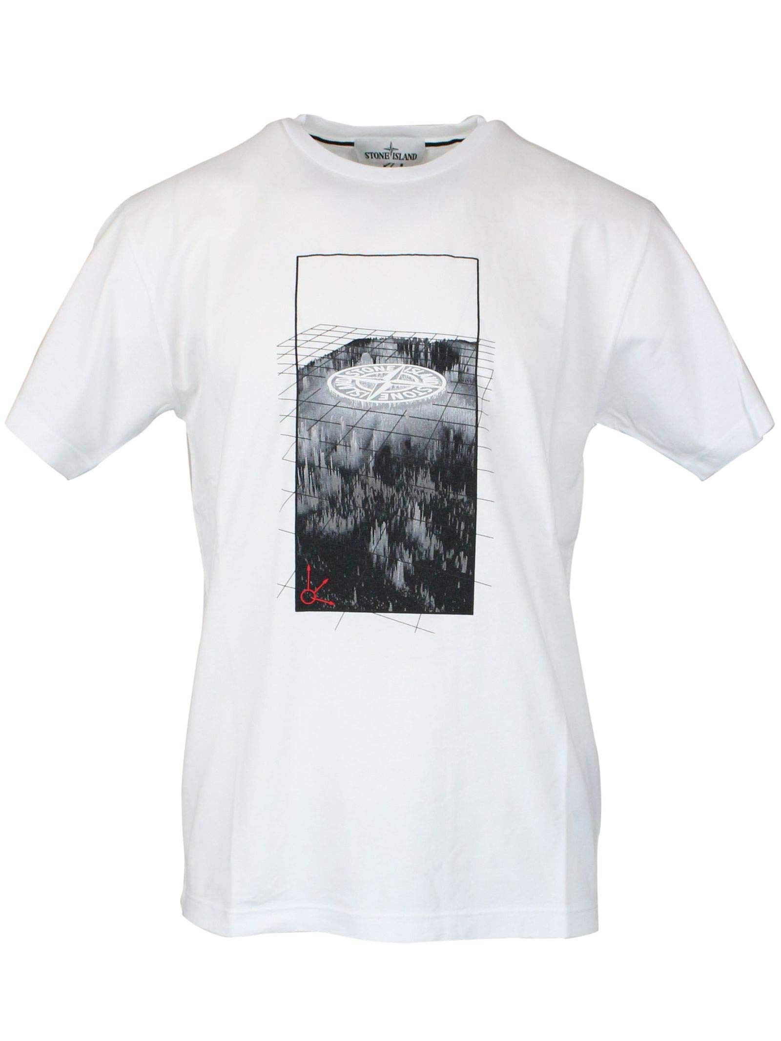 Stone Island Men's Mo70152ns85v0001 White Cotton T-Shirt