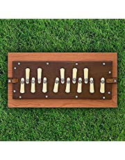 Shruti Box, Large and small Pure Teak wood Sur Peti With form Bag, Natural Color, Musical Instrument Tuned 440Hz (Made in INDIA))
