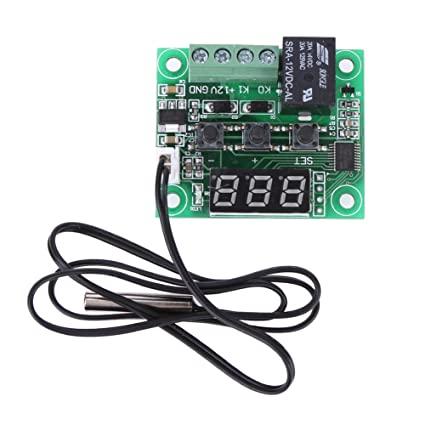 AMZVASO - DC 12V W1209 Digital Cool/Heat Temp Thermostat Thermometer Temperature Controller Handheld On