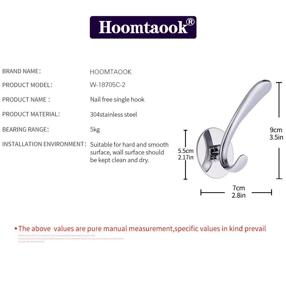 HOOMTAOOK Percha para toallas y albornoces para pared 1e7bd8fcb0e2
