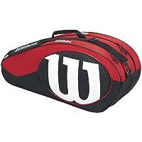 Wilson Accesorios de Tenis, Color Negro/Rojo