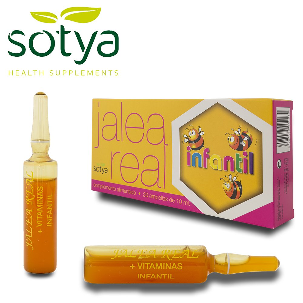 SOTYA Jalea Real Infantil 20 ampollas: Amazon.es: Salud y cuidado personal