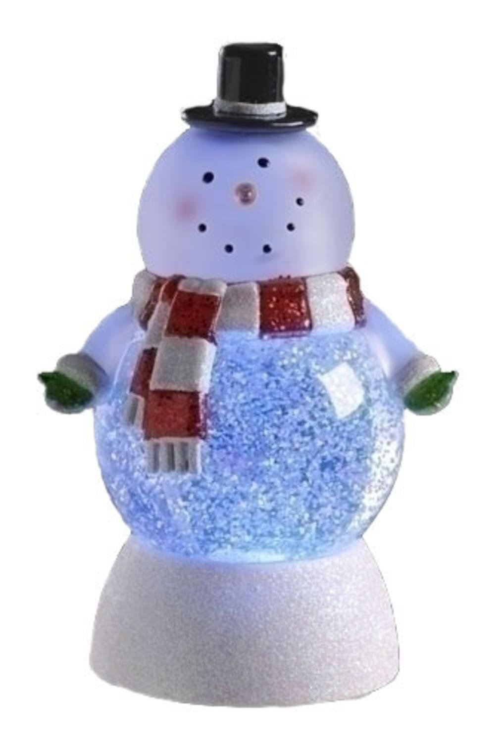 LED Lighted Color-Changing Snowman Christmas Glitterdome
