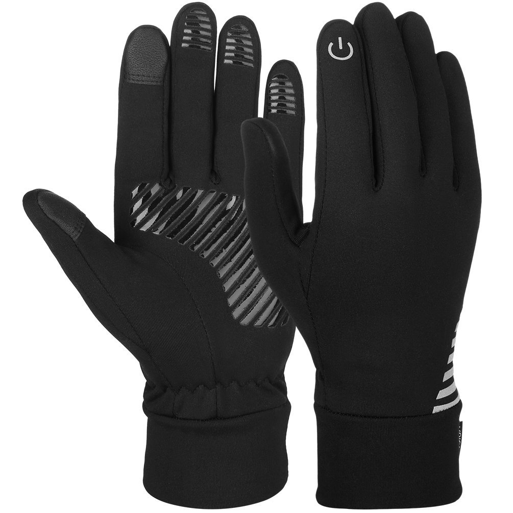 Vbiger Unisex Cycling Gloves Touch Screen Anti-slip Gloves Black L