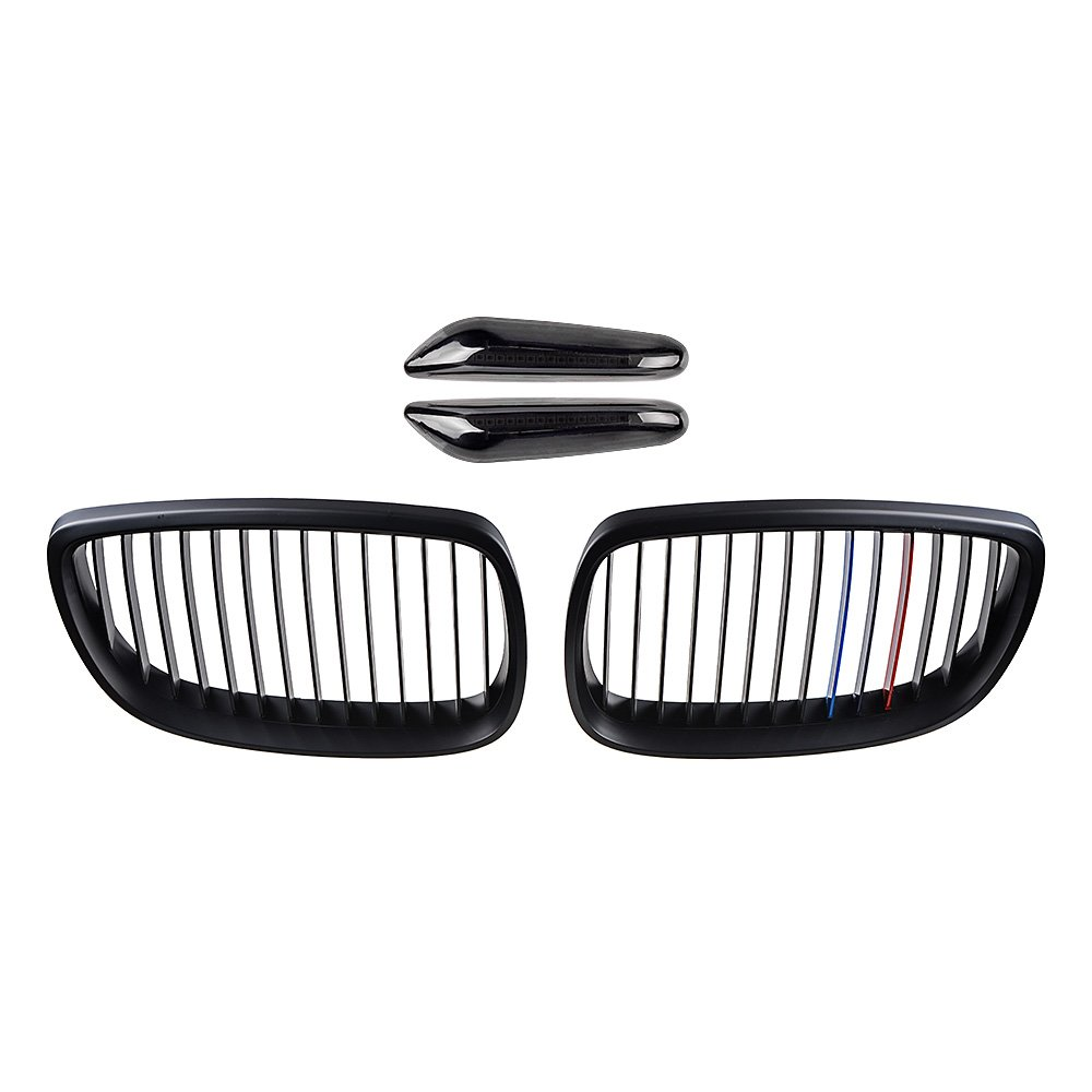 2pcs Glossy Black Front Upper Kidney Grill Grille for 2008-2013 BMW 3-Series E92 E93 M3