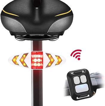 LiDiwee Luz trasera para bicicleta, LED luces intermitentes de ...