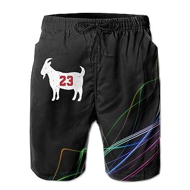 a1b959d780e Goat 23 Jordan Mens Board Shorts Swim Trunks Beachwear Hiker Beach Trunks |  Amazon.com