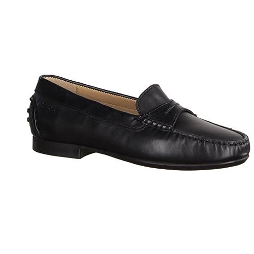 Sioux Loana - Mocasines de Piel para mujer Negro negro, color Negro, talla 41: Amazon.es: Zapatos y complementos