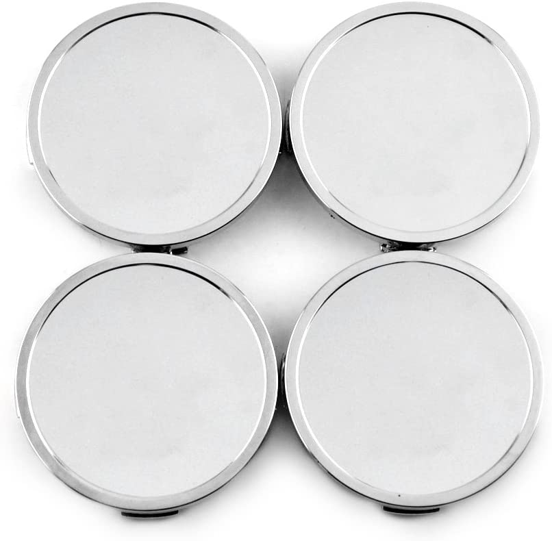 4pcs 69mm(2.72in)/68mm(2.68in) Wheel Hub Center Caps Silver Base for Series RS2M R1 RC1 RS3 C1 540 Edition Wheel Rims