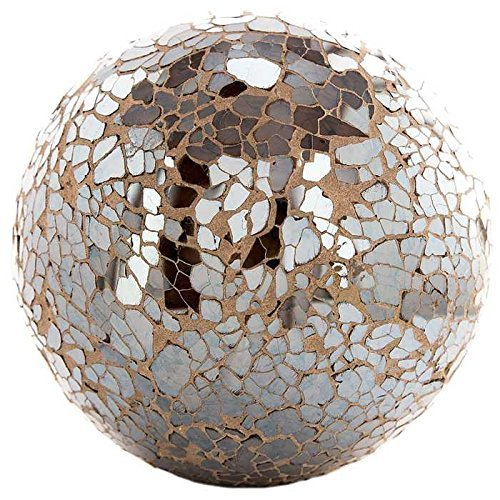 "Champagne 4"" Mosaic Deco Sphere"