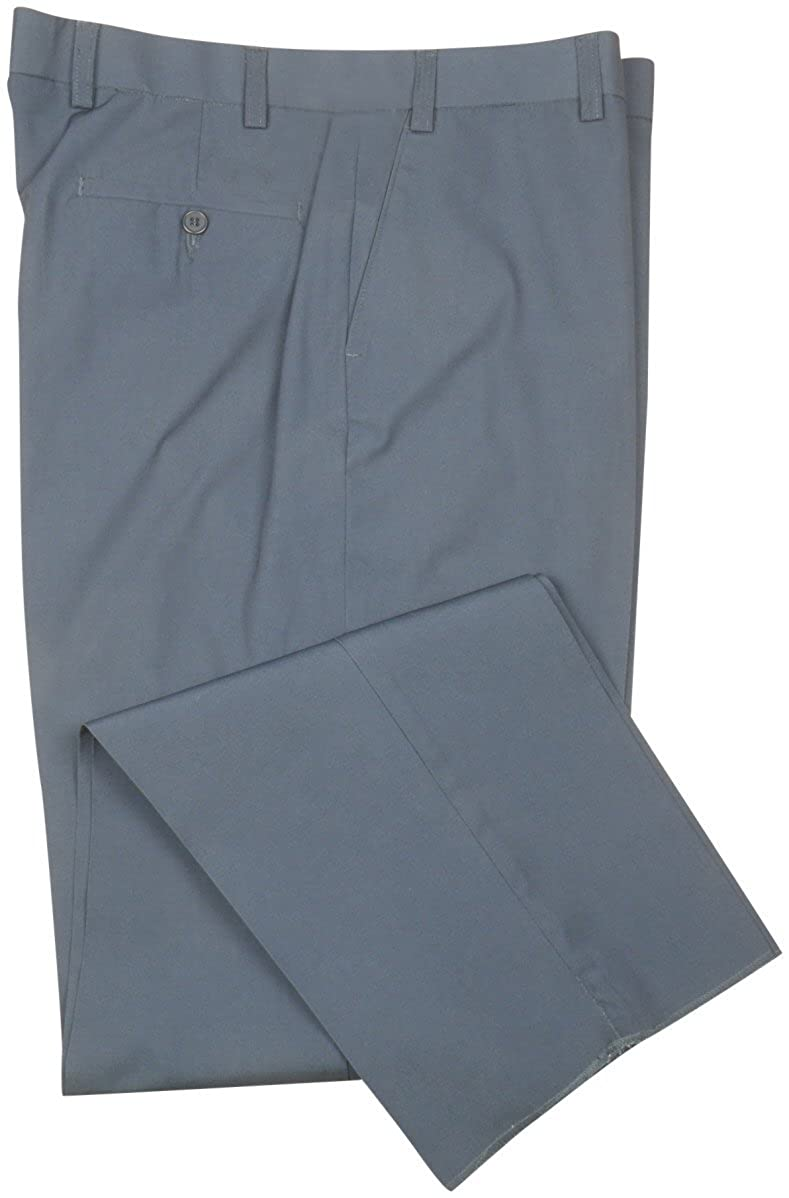 Haband Poly Cotton Chino Casual Dress Pants For Men - Flat Front