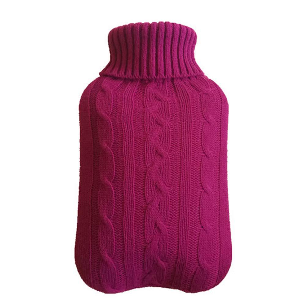 Milnut W/ärmflaschenbezug Stricken Geeignet f/ür 2-Liter W/ärmflasche Wei/ß Bezug f/ür W/ärmflasche