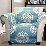 Lush Decor Sohpie Slipcover/Furniture Protector for Armchair, Blue