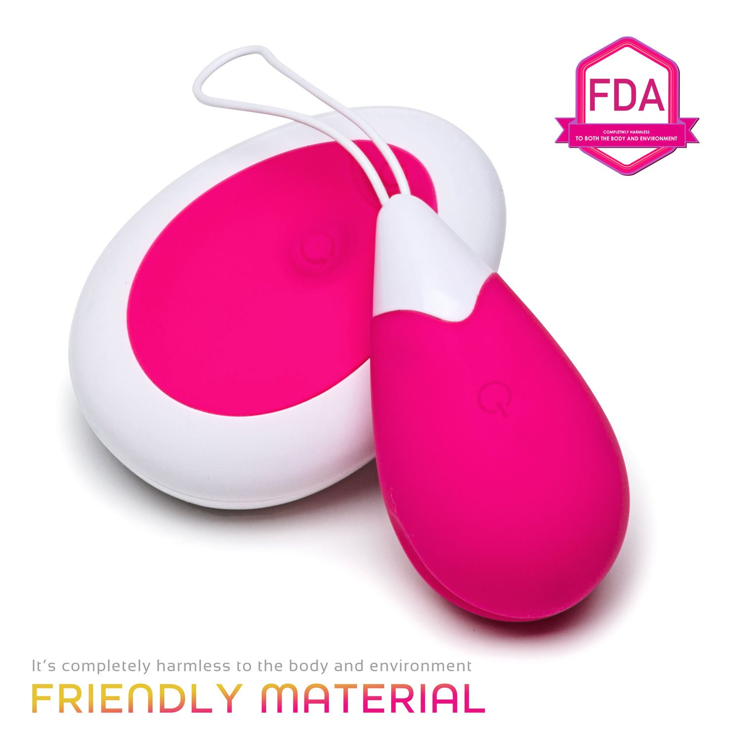 Zubrex Rechargeable Wireless Remote Through - Wall Controlled Egg Kegel Ball Silicone for Women or Personal Use