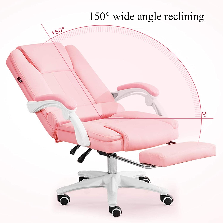 YYL kontorsstol dator kontor svängbar stol, ergonomisk hög rygg PU skrivbordsstol, justerbar svängstol (färg: svart) Svart