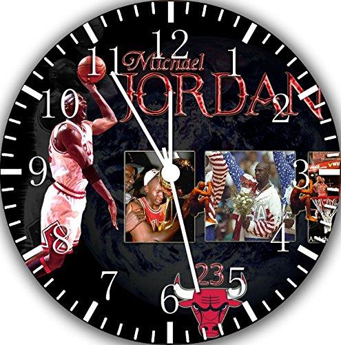 Borderless Jordan Frameless Wall Clock W28 Nice for Decor Or Gifts (Jordan Wall Clock)