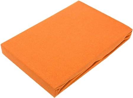 Exklusiv Heimtextil - Sábana bajera ajustable con goma elástica en todo el contorno, 100 % algodón, terracota, 90 - 100 x 200 cm: Amazon.es: Hogar