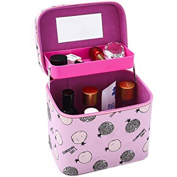 e40aad59724f Amazon.com : Cityeast Large Travel Cosmetic Case with Mirror PU ...