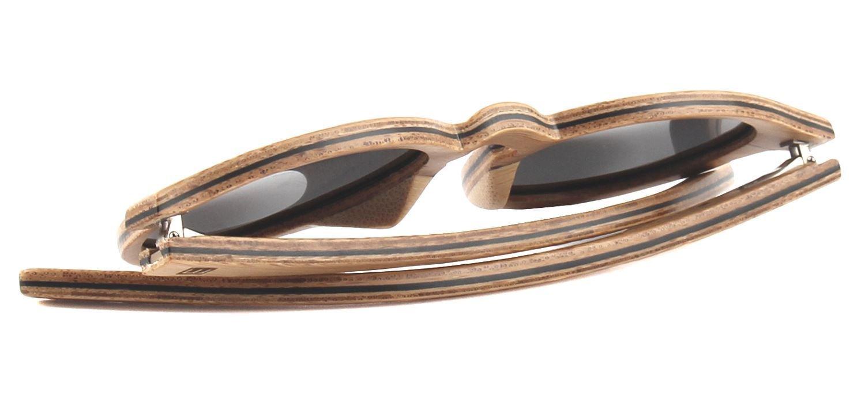 d1be11b2f8fa7f WOLA lunette de soleil en bois SELVA lunettes style rondes WOLA Handels  e.U. W3012-3
