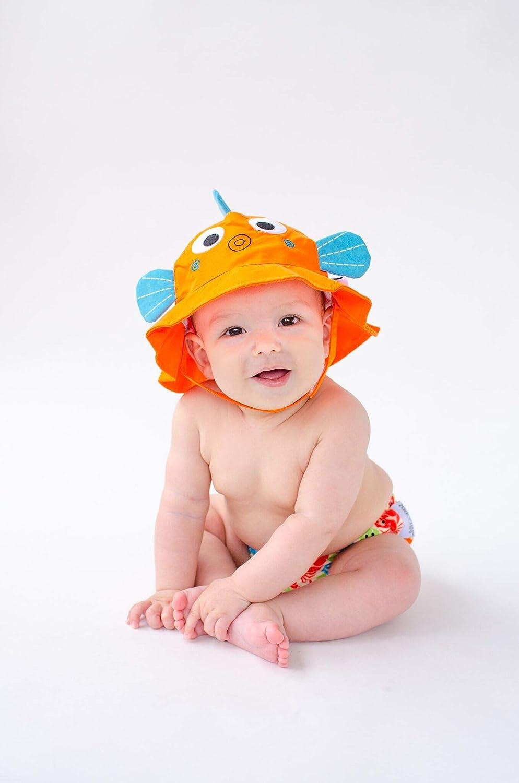 Lavabile 3-6 mesi Impermeabile Protezione UPF 50+ Zoocchini Costumino Contenitivo e Cappellino