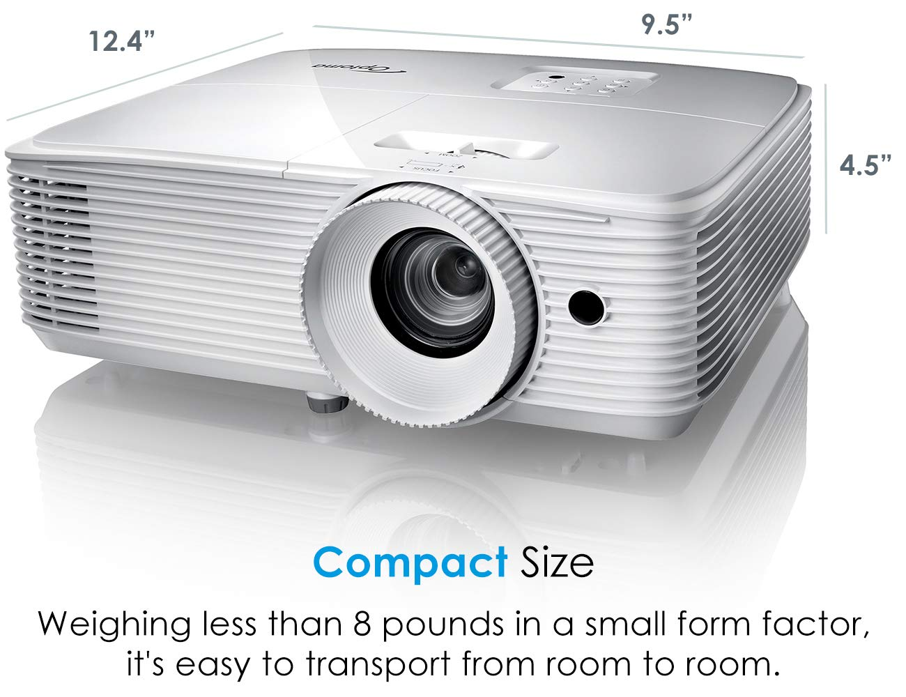 Optoma EH412 1080P DLP Professional Projector | Super Bright 4500 Lumens | Business Presentations, Classrooms, and Meeting Rooms | 15,000 Hour lamp Life | 4K HDR Input | Speaker Built in by Optoma (Image #7)
