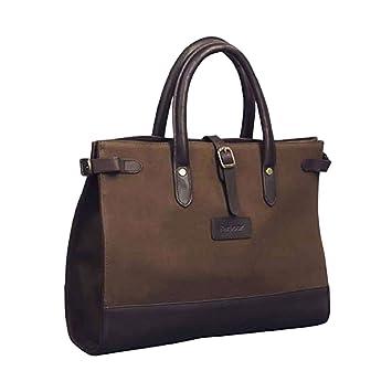 Sac Porte Document Femme Barbour Coton Et Cuir Xcm Amazoncouk - Porte document femme cuir