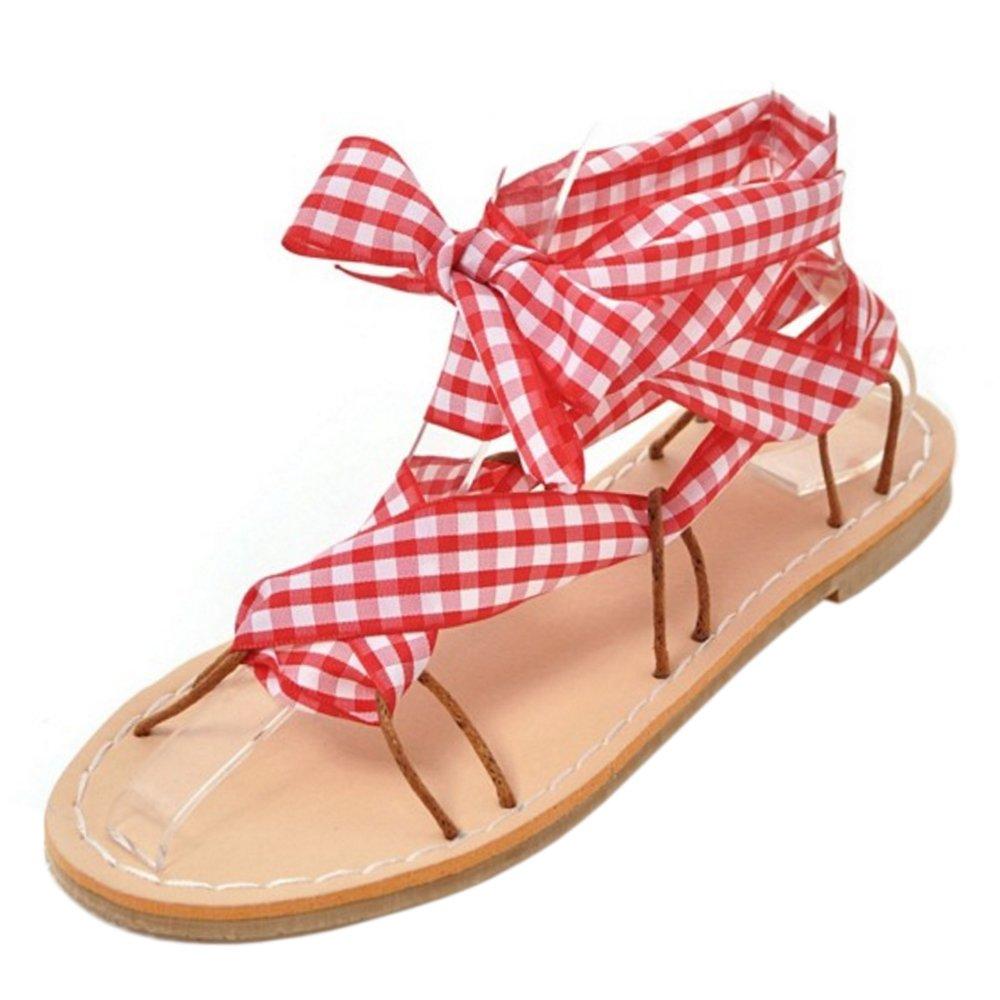 RAZAMAZA 27.5 Women Flats Sandals Shoes B07C268DGK 11 US = 27.5 RAZAMAZA CM Red d13072