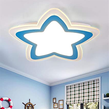Amazon.com: GD1 Ceiling Light Blue Children\'s Room Lamp Boy ...