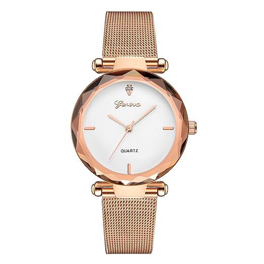 Gusspower Reloj de Pulsera de Cuarzo para Mujeres, Correa de Acero Inoxidable Color Acero Moda