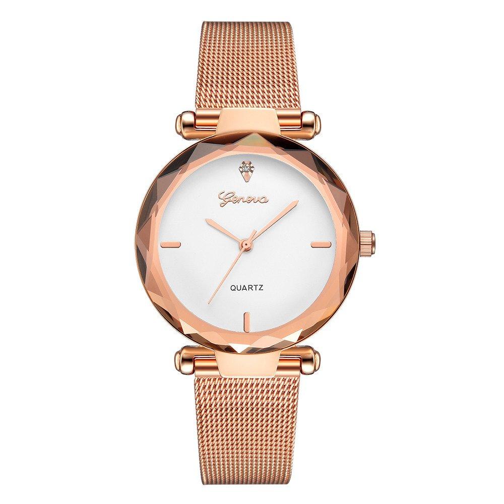 Triskye Women Analog Quartz Watches Luxury Classic Business Casual Stainless Steel Band Wrist Watch Girls Ladies Round Bracelet Alloy Wristwatch