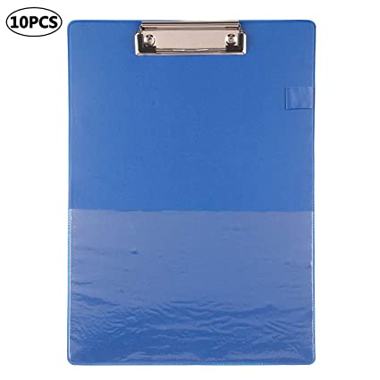 A4 Clipboard PVC With Pen Holder Clip Board Foldover Writing Office Document Pad