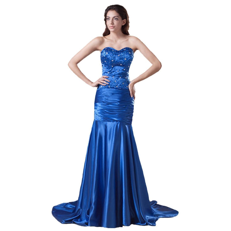 Jspoir Melodiz Women's Sweetheart Satin Sweep Train Bridesmaid Dress