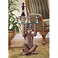 Design Toscano Moroccan Monkey Business Sculptural Side Table