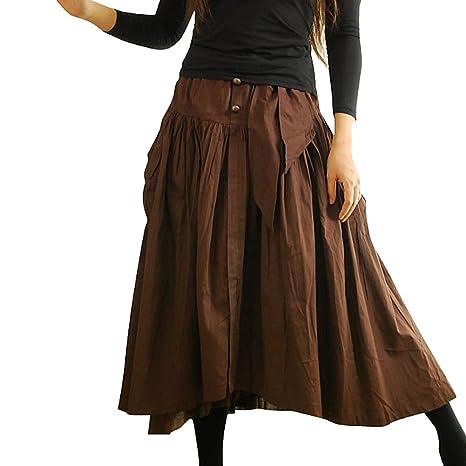 Ferrand - Maxi Skirt Falda Larga De Algodón-Flada HTXDQ54 - Mujer ...
