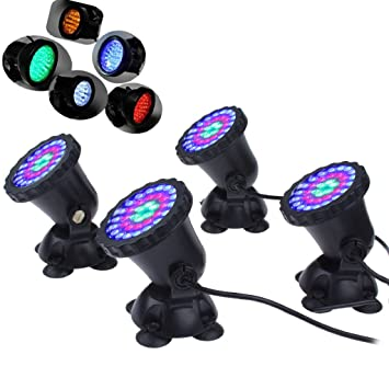 mingdak® LED bajo el agua Luz Foco sumergible fuente de jardín paisaje lámpara para acuario