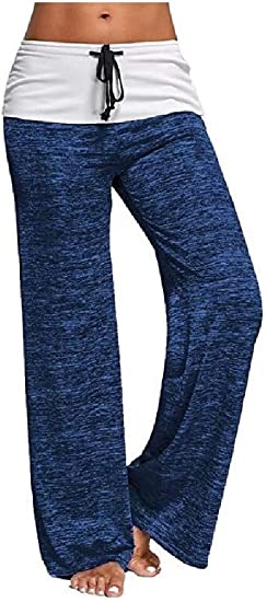 Nicellyer Womens Mid Rise Chic Soft Cool Dry Strappy Yoga Pants