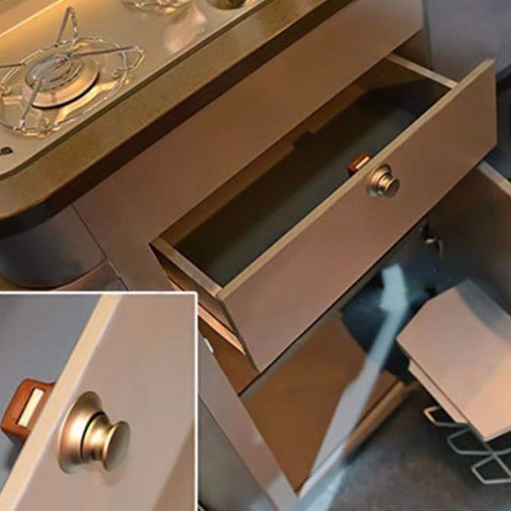 muebles con agujero de apertura sin llave 1//4 de pieza barcos para puertas de armarios o caravanas caravanas armarios Pomo de cierre de bot/ón