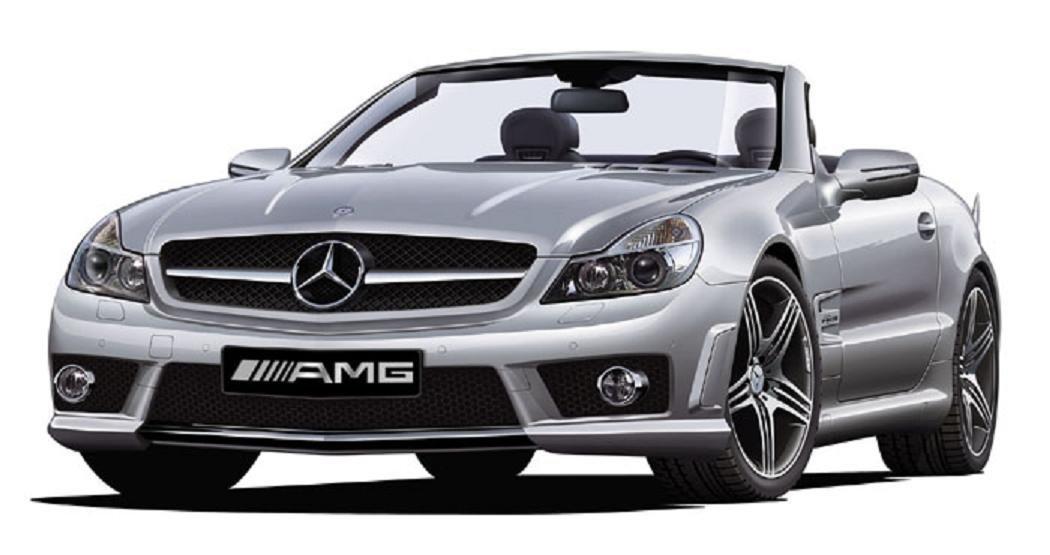 Aoshima 1//24 Mercedes-Benz SL-63 with AMG Wheel