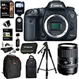 Canon EOS 7D Mark II Digital SLR Camera + Tamron AFB016C700 16-300 F/3.5-6.3 Di II VC PZD Macro IS Lens + Lexar 64GB Memory Card + Flash + Battery + Ritz Gear Bag + Polaroid Tripod + Accessory Bundle