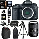 Canon EOS 7D Mark II Digital SLR Camera + Tamron AFB016C700 16-300 F/3.5-6.3 Di II VC PZD Macro IS Lens + Lexar 64GB Memory Card + Flash + Battery + Ritz Gear Bag + Polaroid Tripod + Accessory Bundle