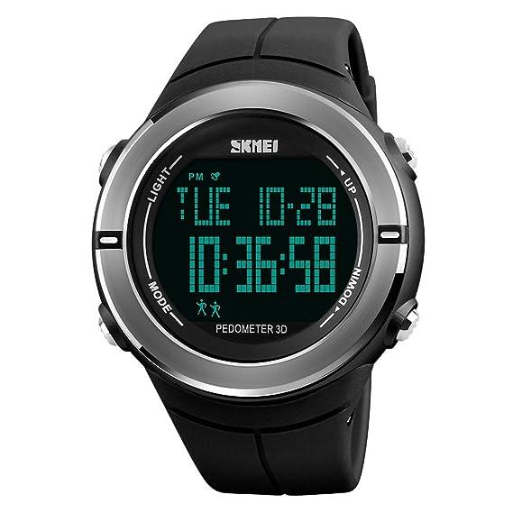 Men's Watches Mens Watches Pedometer Calorie Digital Sport Watch Men Compass Thermometer Wrist Watch Outdoor Relojes Para Hombre Skmei 2019